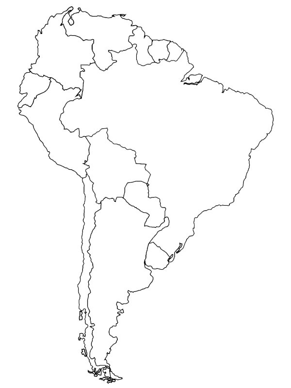coloring page South America